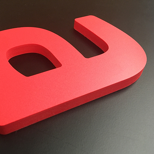 CNC Red Foamex 3DLetters