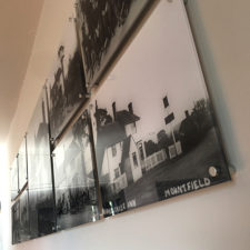 Printed black and white images onto 5mm perspex