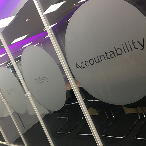 Etch Vinyl promoting brand values and create privacy.