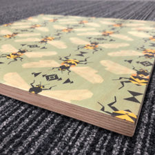 Direct UV Plywood Printing creating a rustic, authentic look.