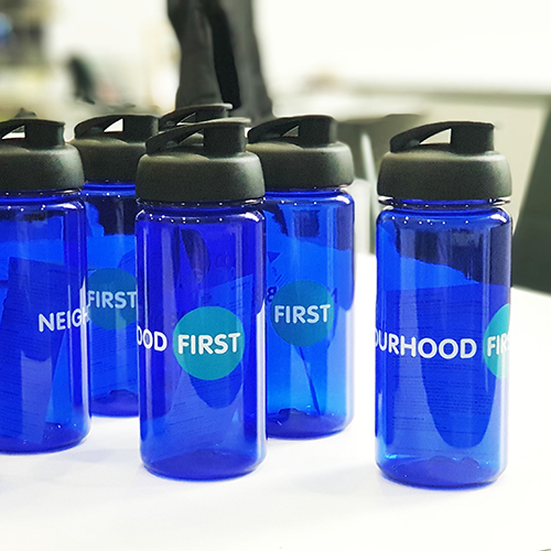 Branded promotional bottles, a great giveaway at events.
