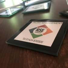 Branded Coasters, a great addition to any desk to promote your brand.