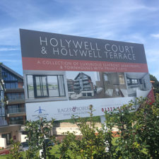 Large Format Exterior Site Board with full colour vinyl and a gloss laminate.