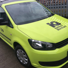 Two tone vinyl wrap for this VW Caddy.