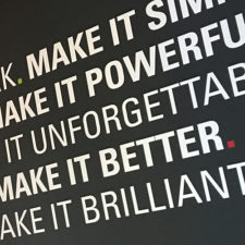 Vinyl Lettering is ideal for adding colour and inspiring messages to any plain walls.