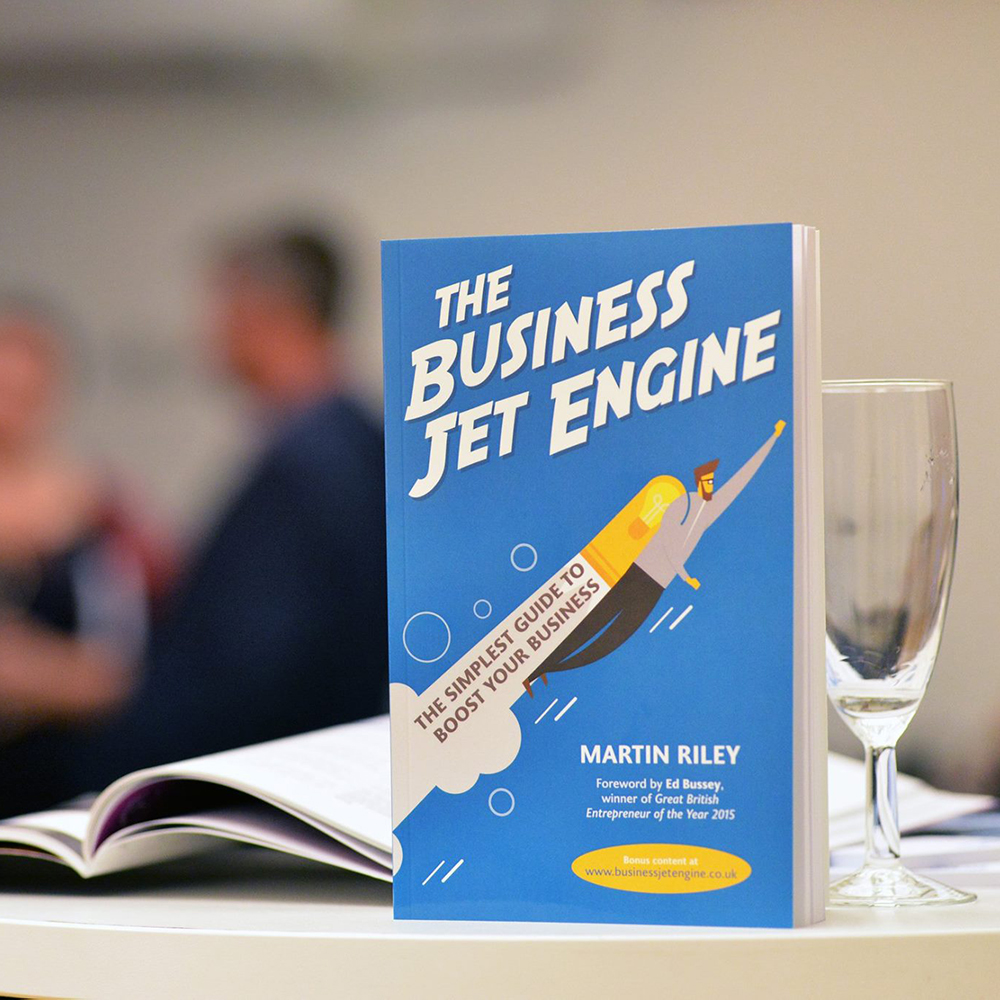 'Twist-lock' Centro stand helps launch The Business Jet Engine book